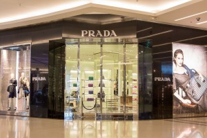 Front View Of Prada Store In Siam Paragon Mall. Bangkok, Thailan
